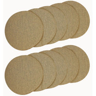 SANDING DISC 2IN. DIA A/O 180G 10/PACK