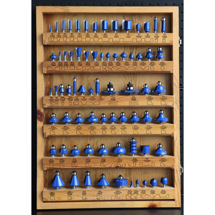 ROUTER BIT MASTER SET 70PC 1/4IN. SHANK