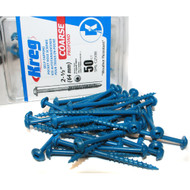 POCKET SCREWS 2 1/2IN. NO. 8 BLKT CRSE W/H 50