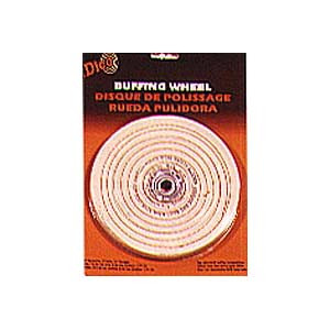 BUFFING WHEEL CUSHION SEWED 6IN. X1/2IN. B/PK