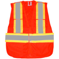 VEST HIGH VISIBILITY ORANGE 5PT TEARAWAY