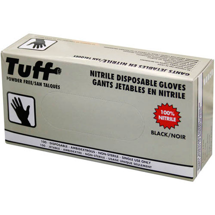 GLOVES NITRILE BLACK LARGE 50PAIRS