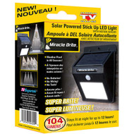 MIRACLE BRITE SOLAR POWER OUTDOOR LIGHT