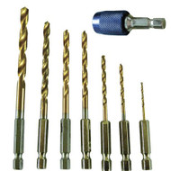 DRILL BIT SET TITANIUM QUICK CHANGE 8PC