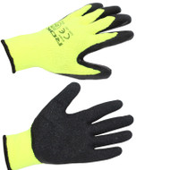 WINTER GLOVES LATEX HI VIZ