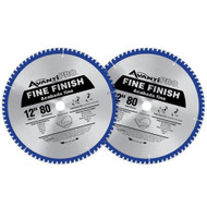 SAW BLADE 12IN. 80T FINE FINISH AVANTI 2PK