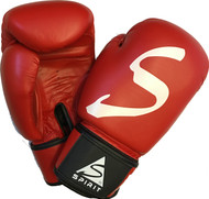Spirit Red Leather Boxing Gloves
