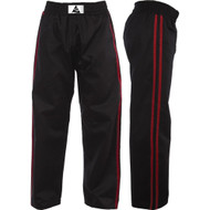 Spirit Adult Black With Red Stripe Kickboxing Trousers