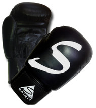 Spirit Black Leather Boxing Gloves