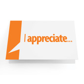 "Business Greeting Cards ""I Appreciate..."" - Pack of 10"