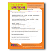 Candor Questions® Pad to Strengthen Business Relationships - 50 Sheets