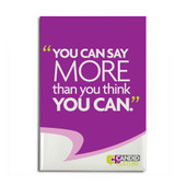 Inspirational Magnets - You Can Say More Than You Think You Can