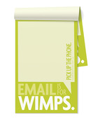 Funny Notepads - Email is for Wimps