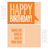 Thanks For Being So Great To Work With - 10-Pack Business Birthday Card