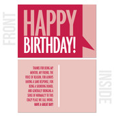 Thank You For Being... - 10-Pack Business Birthday Card