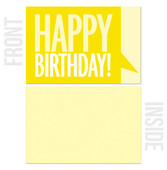 Blank Inside - 10-Pack Business Birthday Card