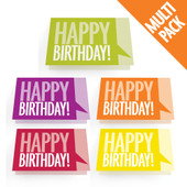 Multi-Pack of 10 - Business Birthday Cards