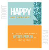 We Couldn't Have Picked a Better Person to Help Us Grow - 10-Pack Happy Work Anniversary Cards