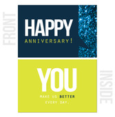 You Make Us Better Every Day - 10-Pack Happy Work Anniversary Cards