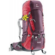 Deuter Aircontact 60+10 SL Women's Backpack - Aubergine/Cranberry