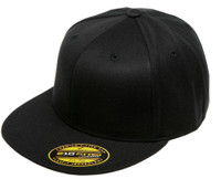6210XX Blank Flexfit Hat Premium Fitted Extra Large 210 Cap - Black