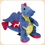 One Plush Blue Dragon