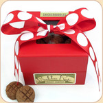 "Boxed ""Snickerdoodle"" Treats--Red Bow"