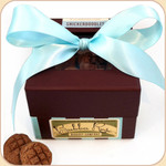 """Boxed """"Snickerdoodle"""" Treats--Blue Bow"""