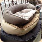 The Storm, Flax & Driftwood Microlinen/Microvelvet Beds in Daylight.
