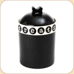 "Black Metro 9.5"" ""Treats"" Jar"