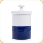 "Blue Ceramic 9"" Treat Jar"