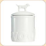 WOOF White Ceramic Treat Jar--2 sizes