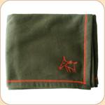 Spunky Dog Emblem Olive Blanket