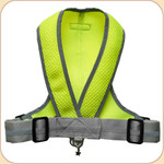Precision Fit Harness in Mesh--Neon Green