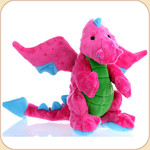 One Plush Neon Pink Dragon