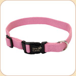 "Soy Dog Collar in Rose--5/8"", 3/4"" & 1"""