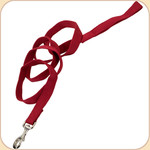 "Soy Dog Leash in Cranberry--5/8"" & 1"""