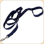 "Soy Dog Leash in Indigo--5/8"" & 1"""