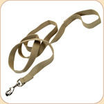 "Soy Dog Leash in Olive--5/8"" & 1"""