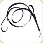 Double Handle Nylon Dog Leash--Black