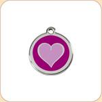 Enamel/Stainless Purple Heart