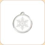 Enamel/Stainless Snowflake