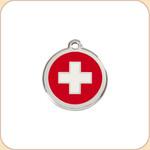 Enamel/Stainless Swiss Cross
