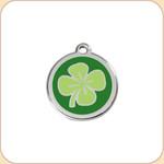 Enamel/Stainless Green Clover
