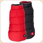 Puffer Reversible Coat Red & Black