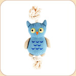 One Rope Canvas Blue Owl Toy