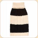 Classic Black & Cream Fisherman Knit Sweater