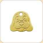 Flat Brass Dog Face