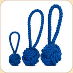 Cotton Rope Knot Tug in Blue --3 sizes