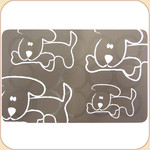 Silicone Placemat--Pups on Taupe